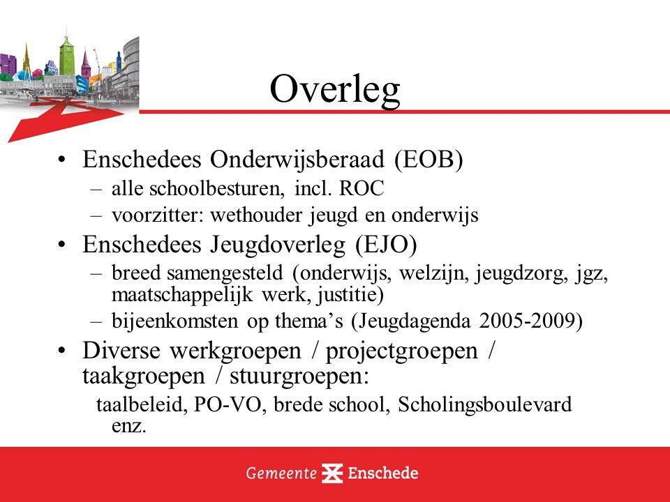 Overleg Enschedees Onderwijsberaad (EOB) Enschedees Jeugdoverleg (EJO)