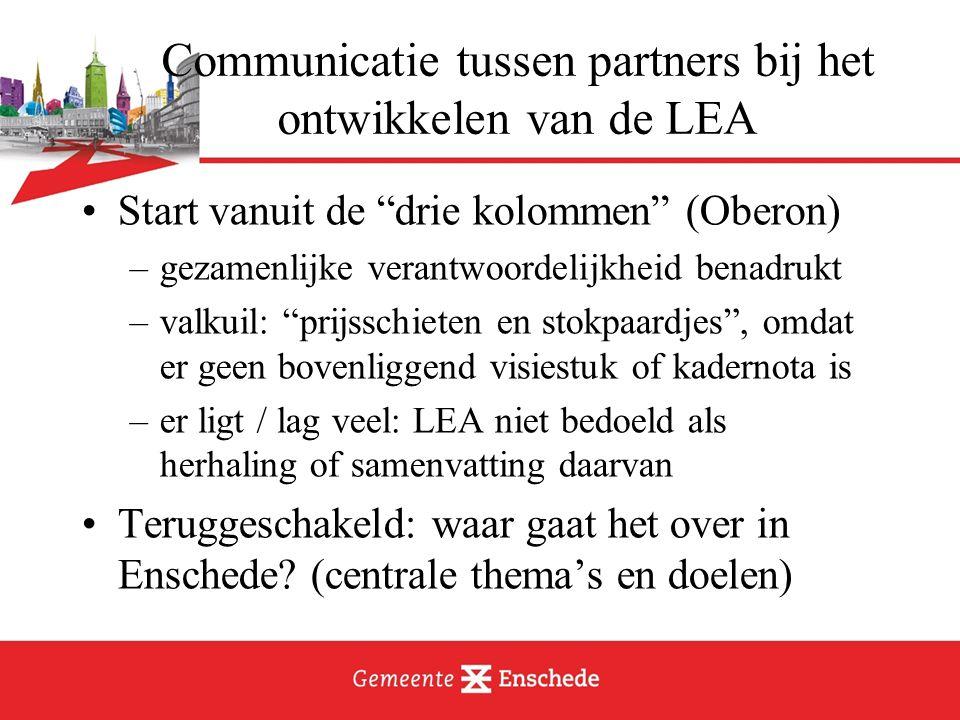 Communicatie tussen partners bij het ontwikkelen van de LEA