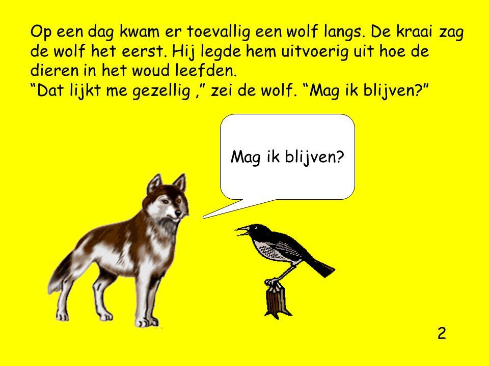 Op een dag kwam er toevallig een wolf langs