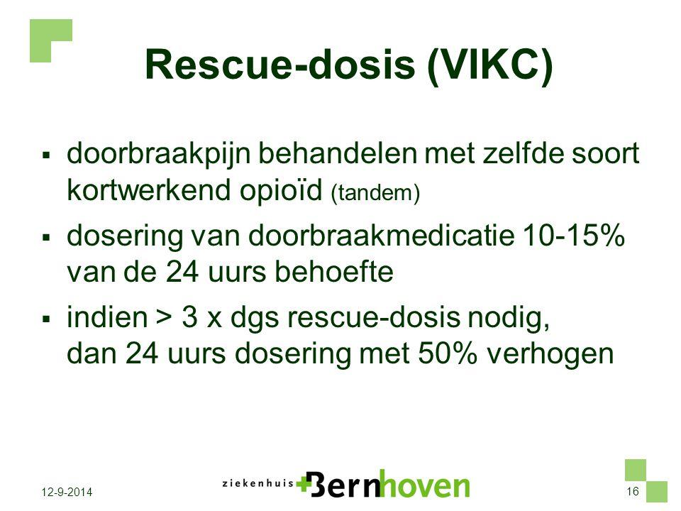 Rescue-dosis (VIKC) doorbraakpijn behandelen met zelfde soort kortwerkend opioïd (tandem)