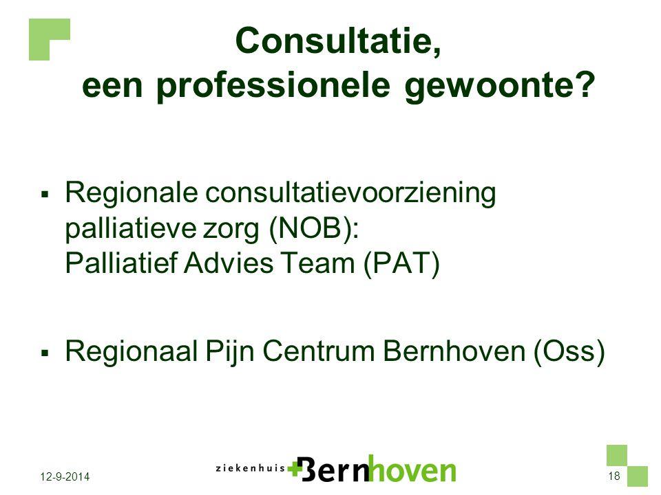 Consultatie, een professionele gewoonte