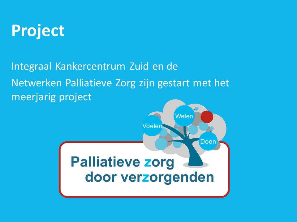 Project Integraal Kankercentrum Zuid en de