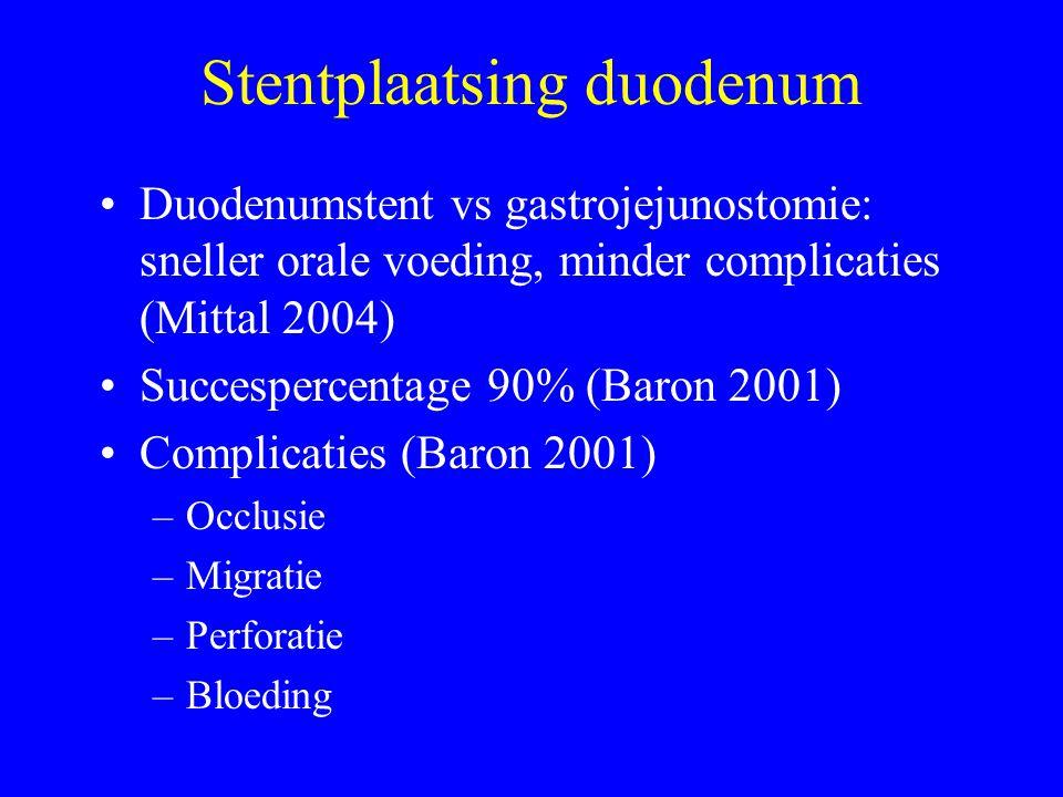 Stentplaatsing duodenum