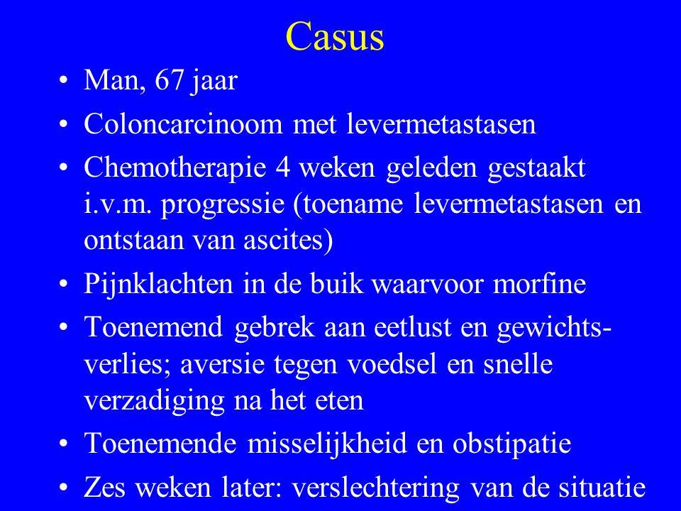 Casus Man, 67 jaar Coloncarcinoom met levermetastasen