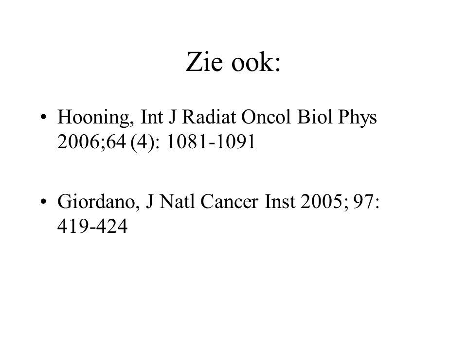 Zie ook: Hooning, Int J Radiat Oncol Biol Phys 2006;64 (4): 1081-1091