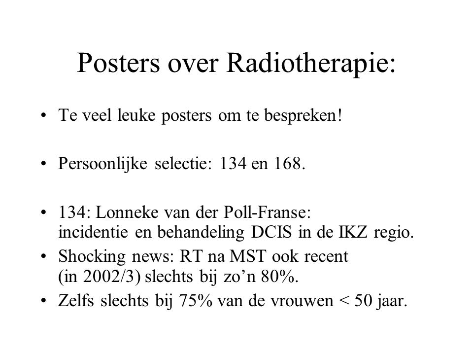 Posters over Radiotherapie: