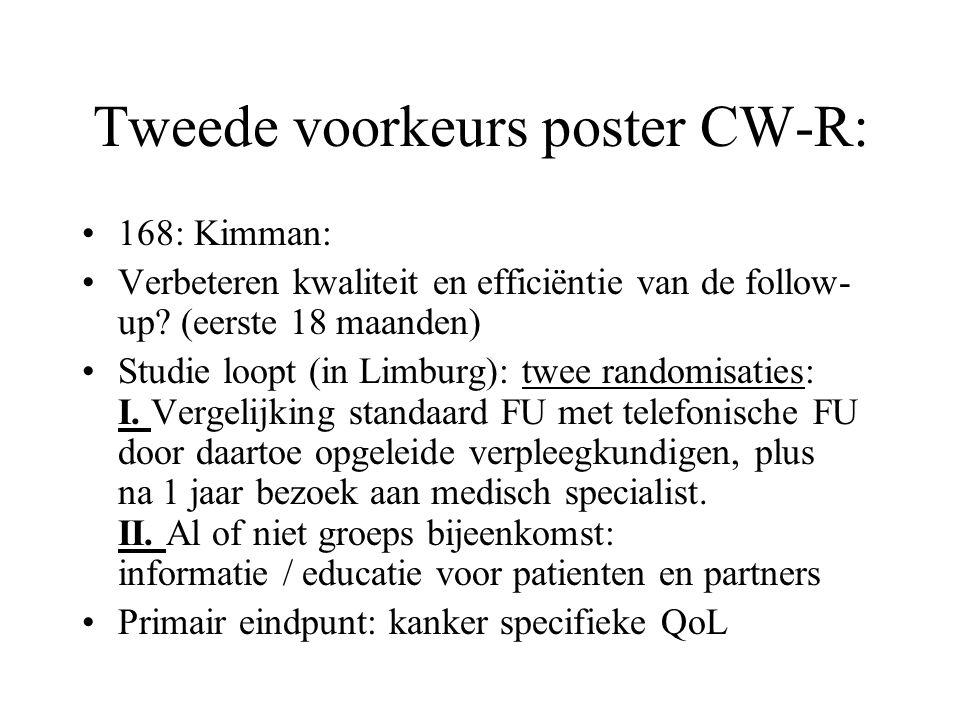 Tweede voorkeurs poster CW-R: