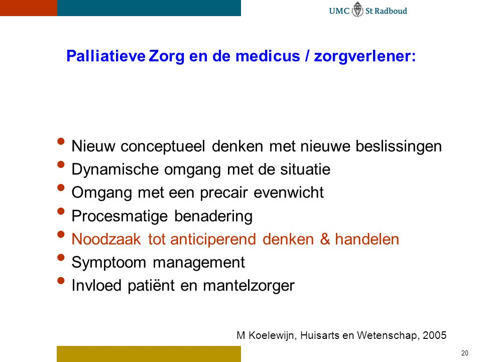 Wat is anticiperen in de Palliatieve Zorg