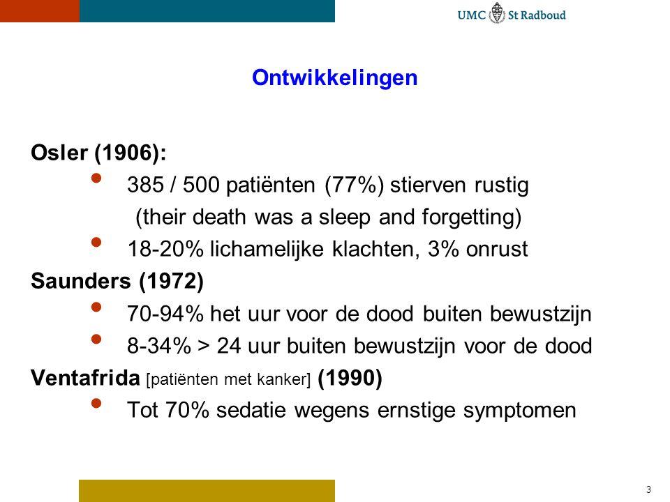 Kwaliteit van leven De medische vooruitgang heeft vele aandoeningen die vroeger snel dodelijk waren, omgevormd tot chronische aandoeningen.