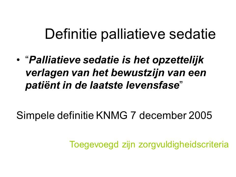 Definitie palliatieve sedatie