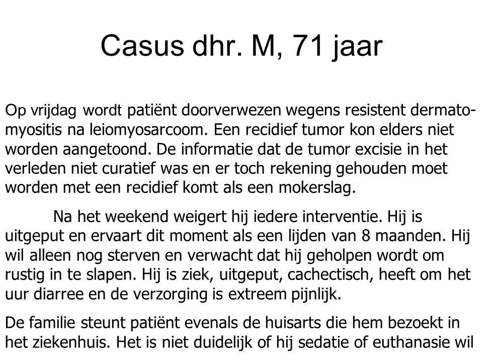 Casus dhr. M, 71 jaar