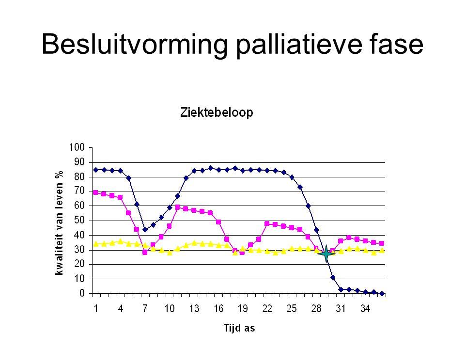 Besluitvorming palliatieve fase