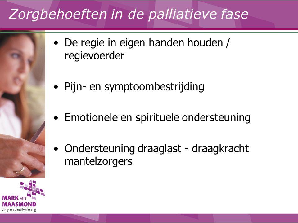 Zorgbehoeften in de palliatieve fase