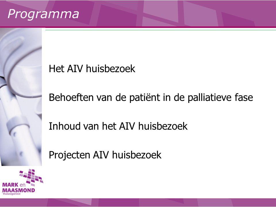 Programma Het AIV huisbezoek