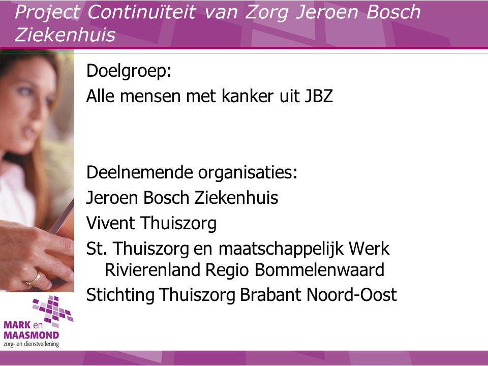 Project Continuïteit van Zorg Jeroen Bosch Ziekenhuis