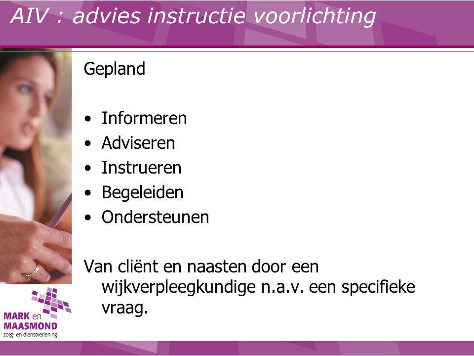 AIV : advies instructie voorlichting