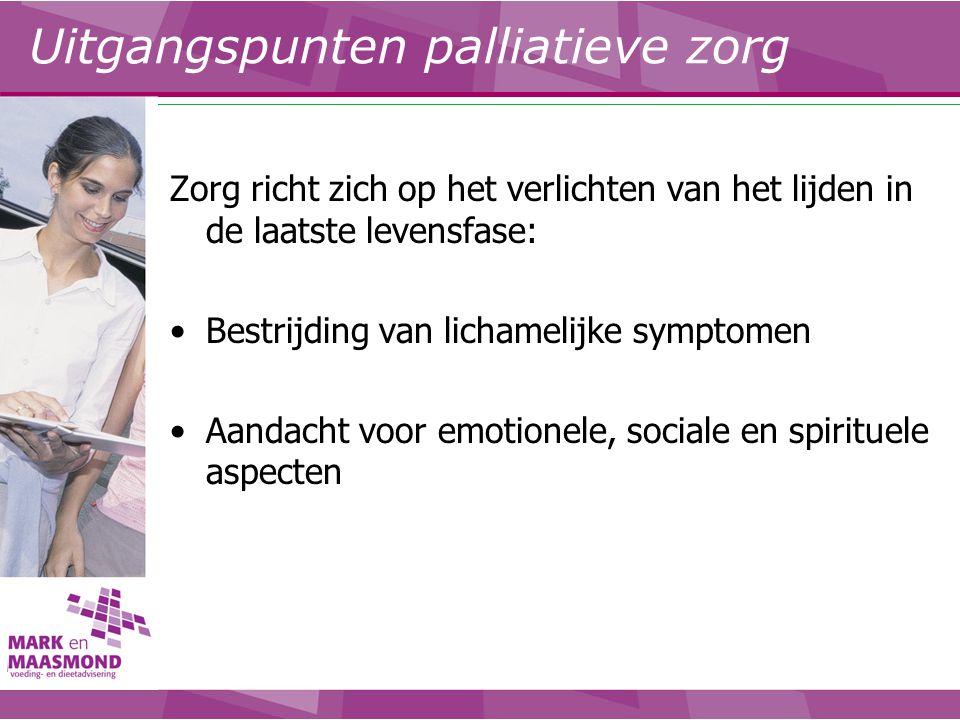 Uitgangspunten palliatieve zorg