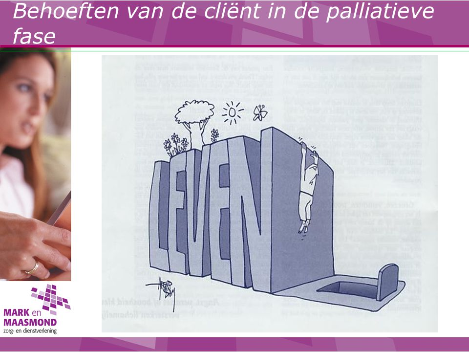 Behoeften van de cliënt in de palliatieve fase
