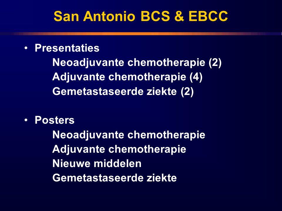 San Antonio BCS & EBCC Presentaties Neoadjuvante chemotherapie (2)