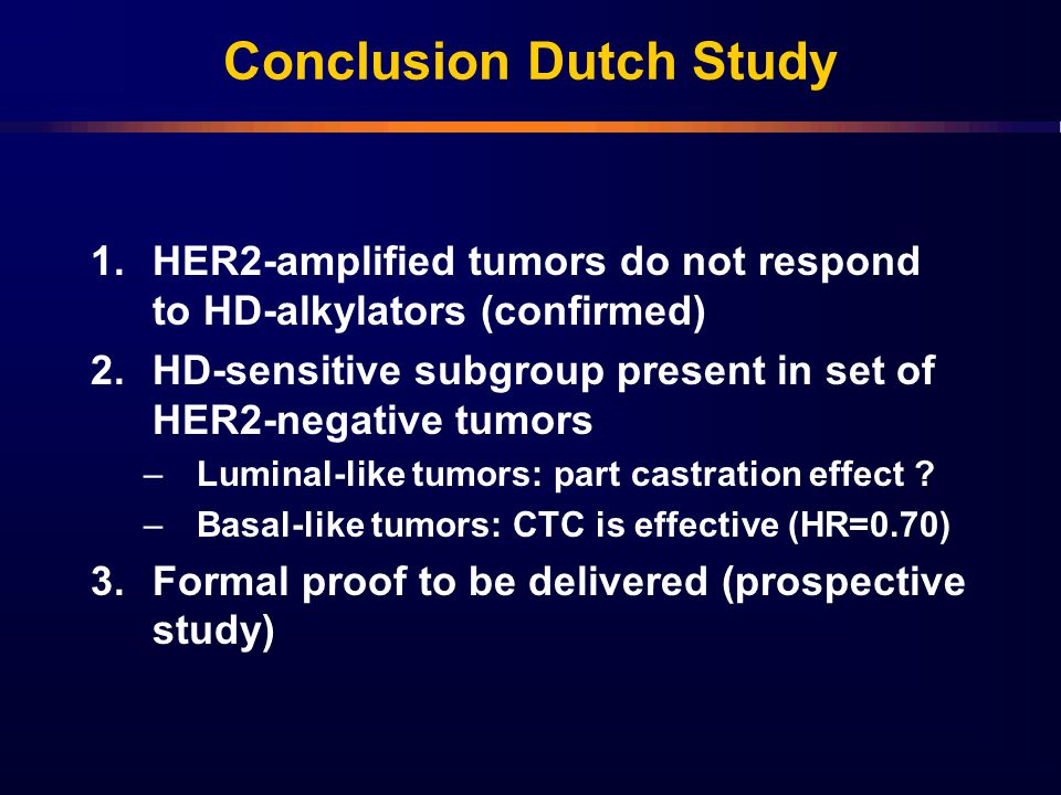 Conclusion Dutch Study