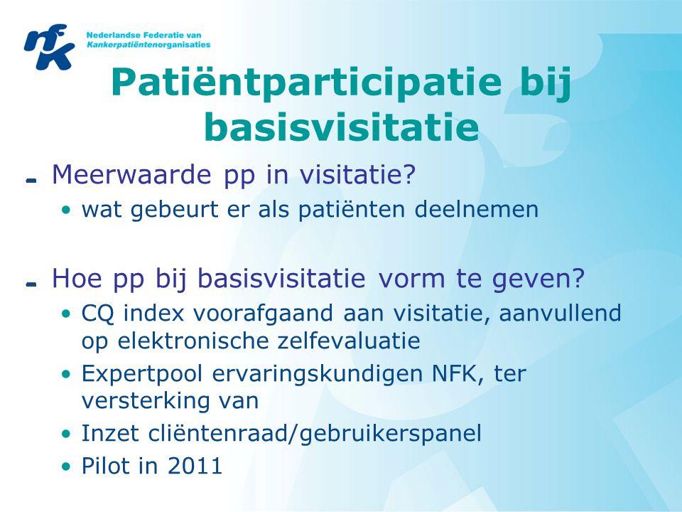 Patiëntparticipatie bij basisvisitatie