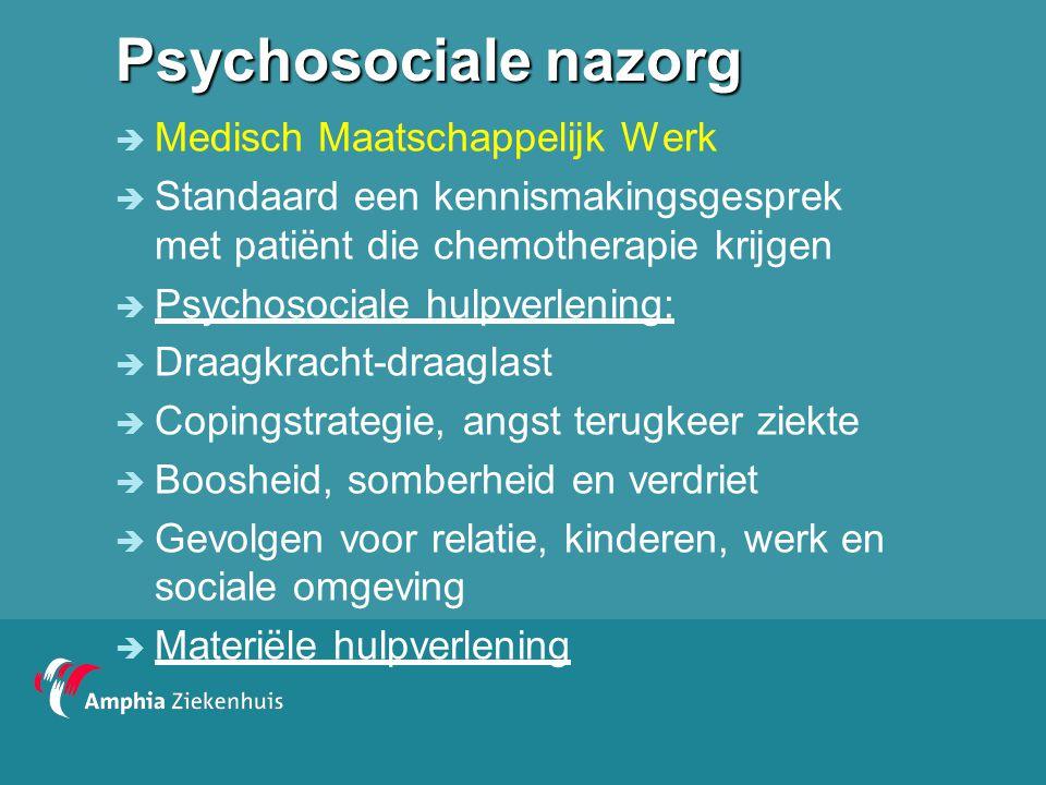 Psychosociale nazorg Medisch Maatschappelijk Werk