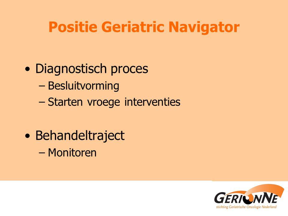 Positie Geriatric Navigator