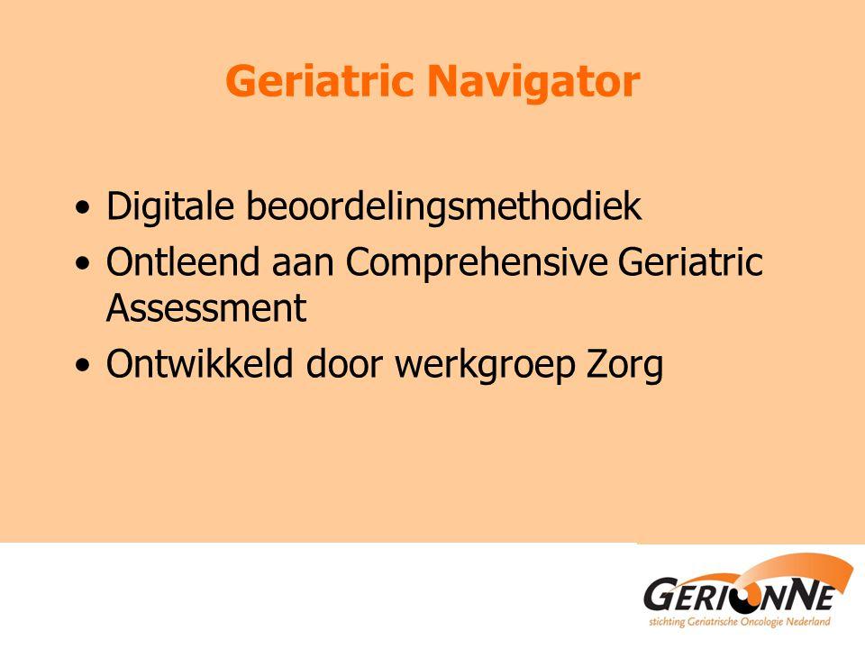 Geriatric Navigator Digitale beoordelingsmethodiek