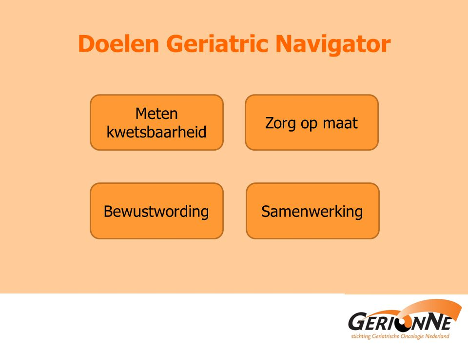 Doelen Geriatric Navigator