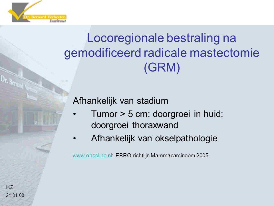 Locoregionale bestraling na gemodificeerd radicale mastectomie (GRM)