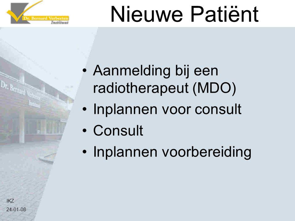 Nieuwe Patiënt Aanmelding bij een radiotherapeut (MDO)