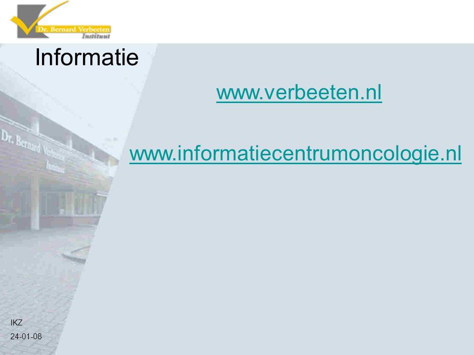 Informatie www.verbeeten.nl www.informatiecentrumoncologie.nl IKZ