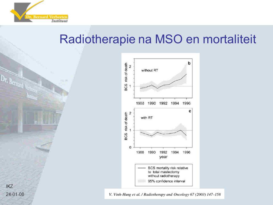 Radiotherapie na MSO en mortaliteit