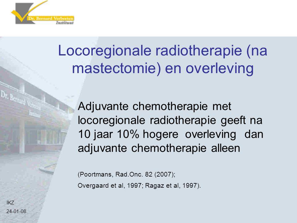 Locoregionale radiotherapie (na mastectomie) en overleving