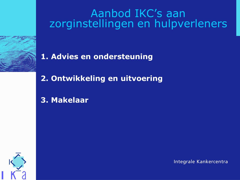 Aanbod IKC's aan zorginstellingen en hulpverleners