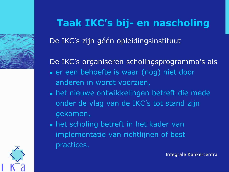 Taak IKC's bij- en nascholing