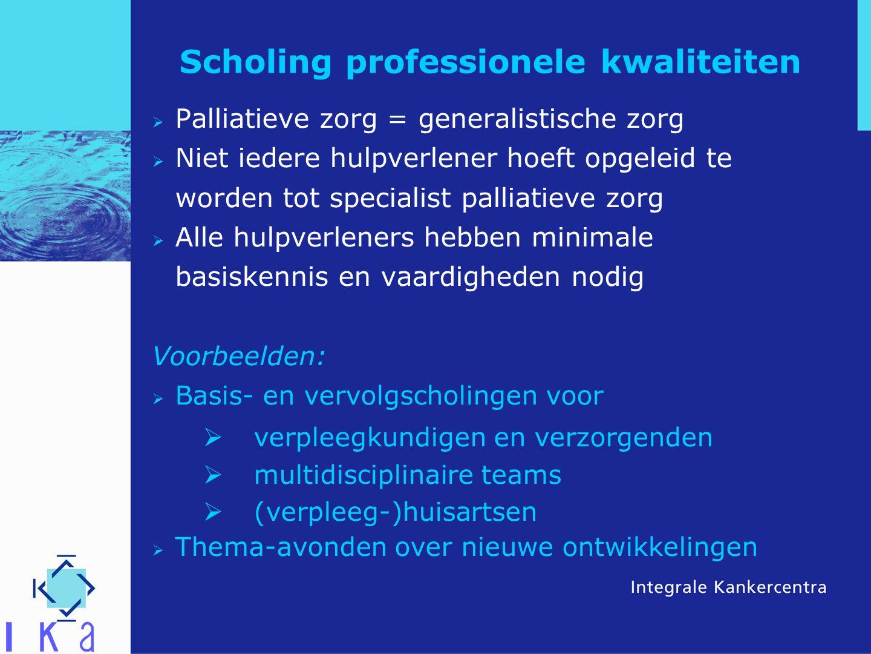 Scholing professionele kwaliteiten