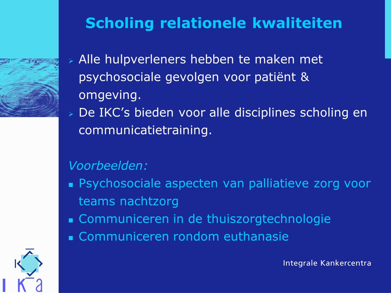 Scholing relationele kwaliteiten