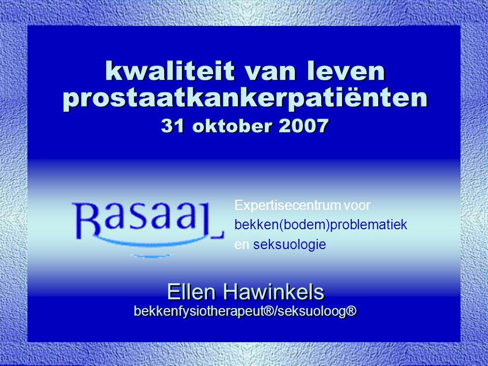 kwaliteit van leven prostaatkankerpatiënten 31 oktober 2007