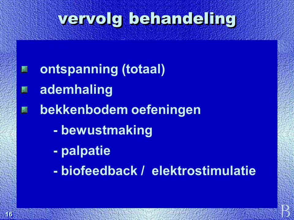 vervolg behandeling ontspanning (totaal) ademhaling