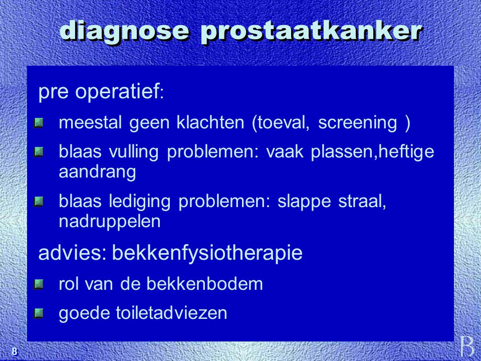 diagnose prostaatkanker