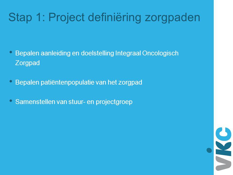 Stap 1: Project definiëring zorgpaden
