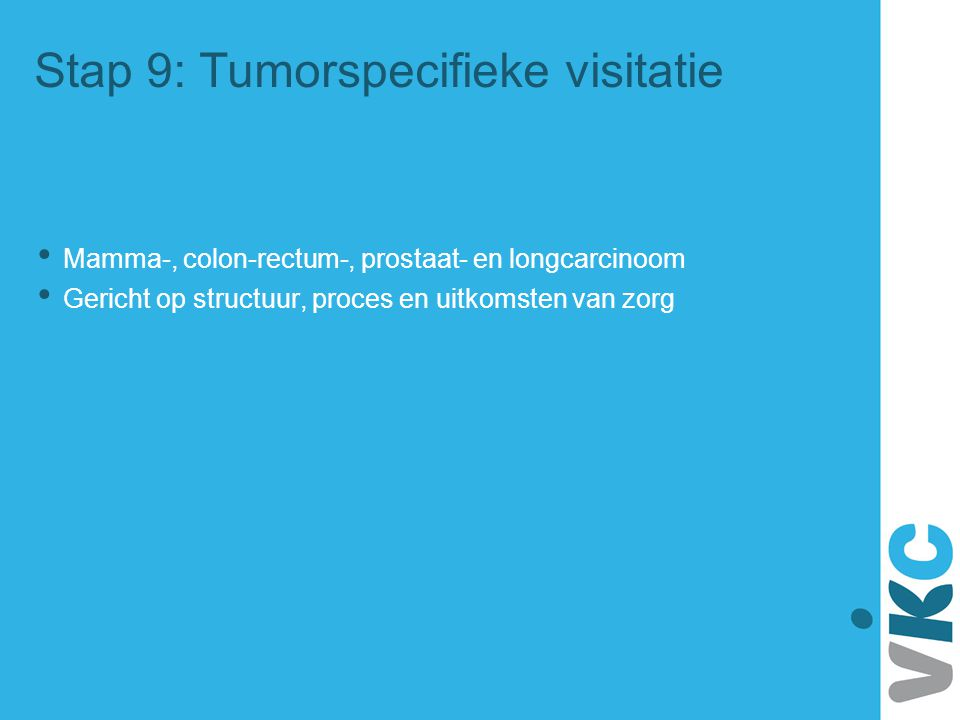 Stap 9: Tumorspecifieke visitatie