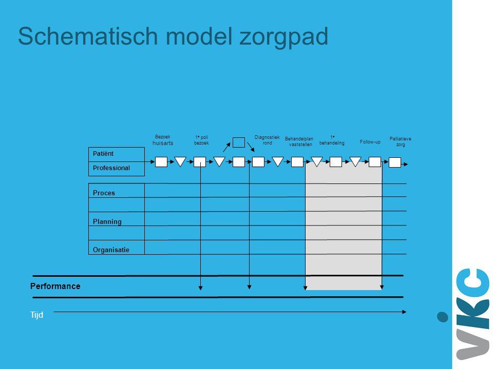 Schematisch model zorgpad