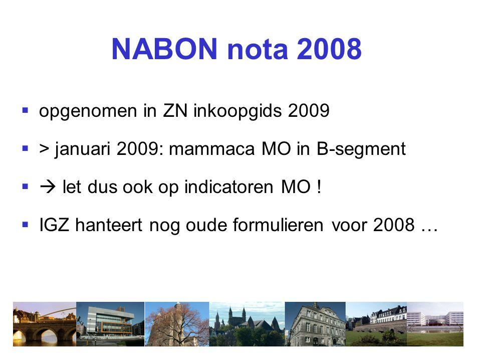 NABON nota 2008 opgenomen in ZN inkoopgids 2009