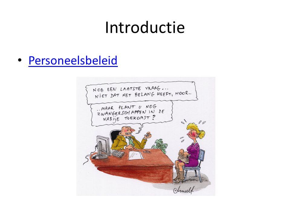 Introductie Personeelsbeleid