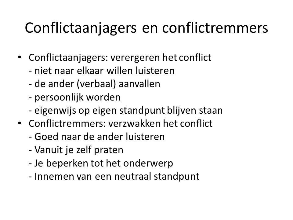 Conflictaanjagers en conflictremmers