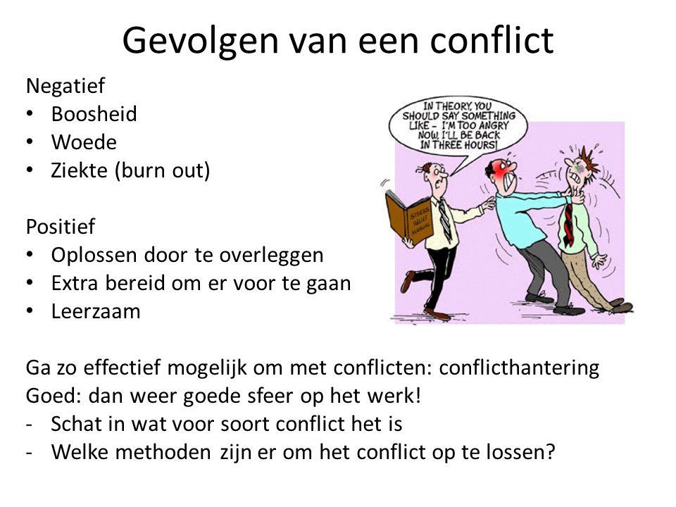 Gevolgen van een conflict