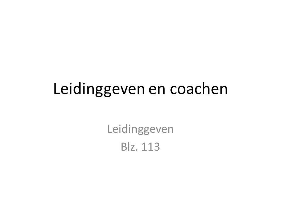 Leidinggeven en coachen