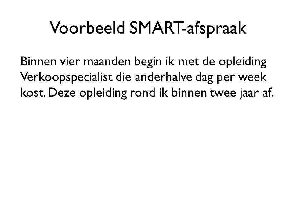 Voorbeeld SMART-afspraak